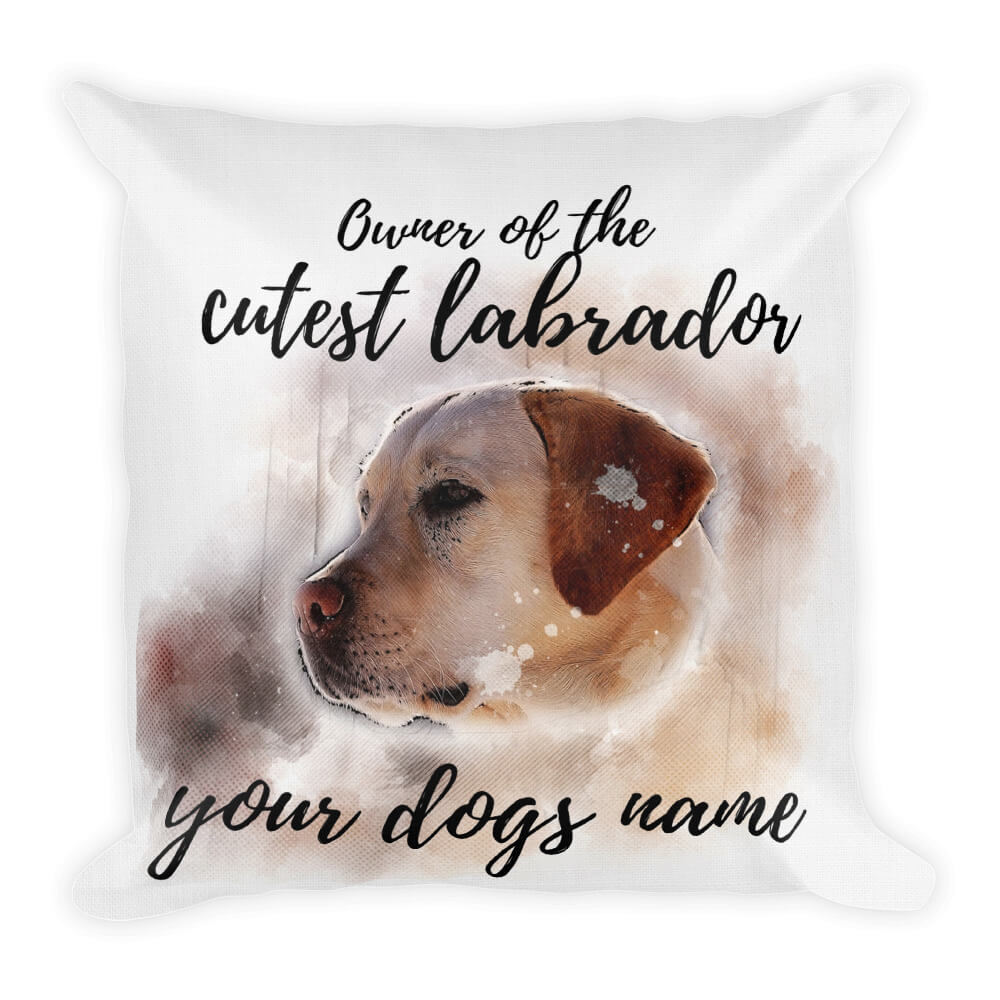 Dog Pillow Design Mockup Front 18x18